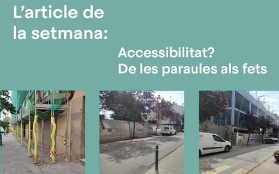 Accessibilitat? De les paraules als fets